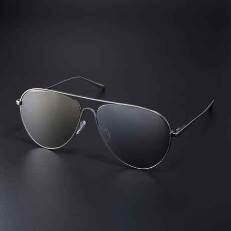 black and gold aviators e7ly  Aviator // Mirror + Gold
