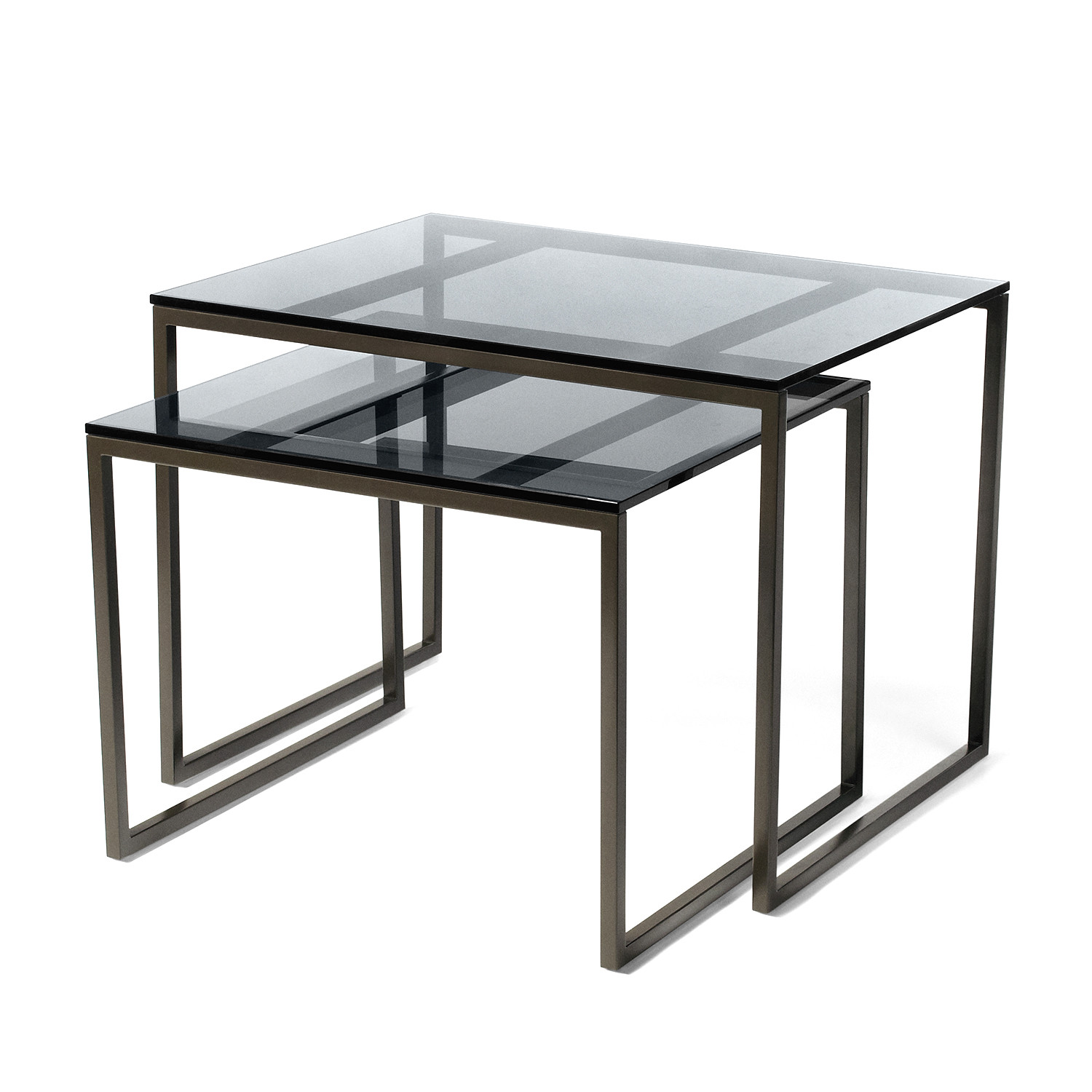 Smoked Glass Nest Of Tables Images Bar Height Dining
