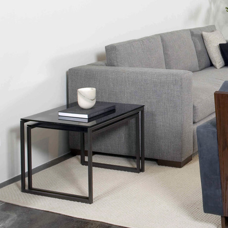 Smoked Glass Nesting Tables