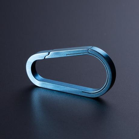 Titanium Carabiner // Tear Drop // Blue