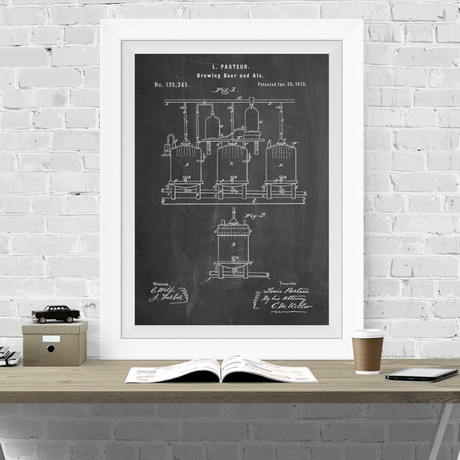 Beer Brewing (Chalkboard)