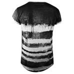 True Prodigy // Joker Tee // Black + White Stripe (XL)