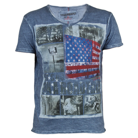 Vintage America Tee // Blue