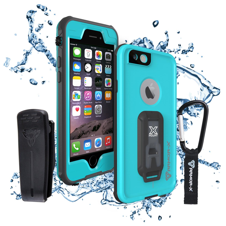 Armor-X // IP68 Ultimate Waterproof Case + Carabiner // Blue