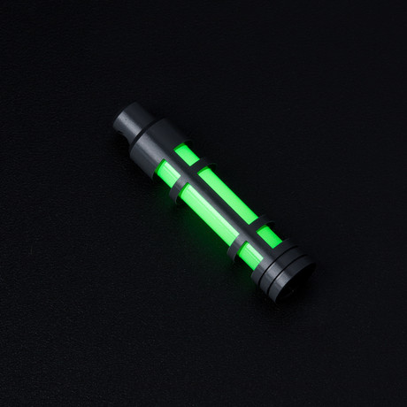 Glow Fob // AluminumEmbrite // Clear Anodize // Green Glow