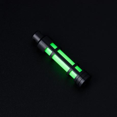 Glow Fob // AluminumEmbrite// Black Anodize // Green Glow