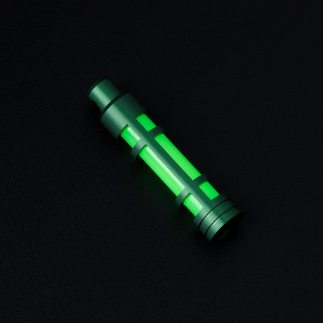 Glow Fob // AluminumEmbrite // Green Anodize // Green Glow