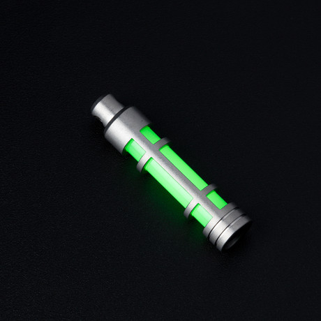 Glow Fob // Stainless Steel Embrite // Green Glow