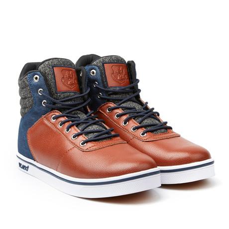 Milo 2 High-Top Sneaker //  Brown + Navy (US: 7)