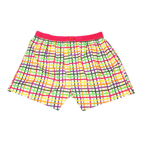 Color Code // Chequered Color Boxer // Multi (XL)