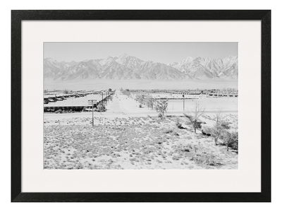 Ansel Adams Majestic Natural Photography Ansel Adams // Manzanar From Guard Tower, View West (sierra Nevada In Background)