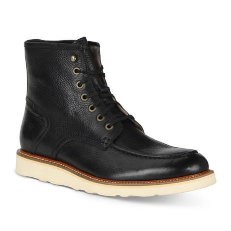 Ashford Lace Up Boot // Black + Cream
