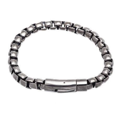 Box Chain Bracelet // Gun Metal