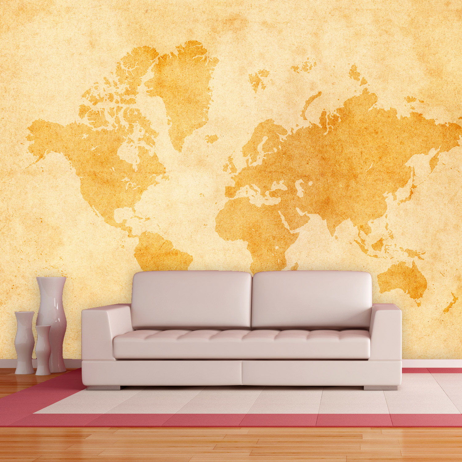 Vintage World Map - Wall Murals & Door Decals - Touch of Modern
