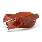 "Genuine Lizard Belt // Cognac (36"" Waist)"