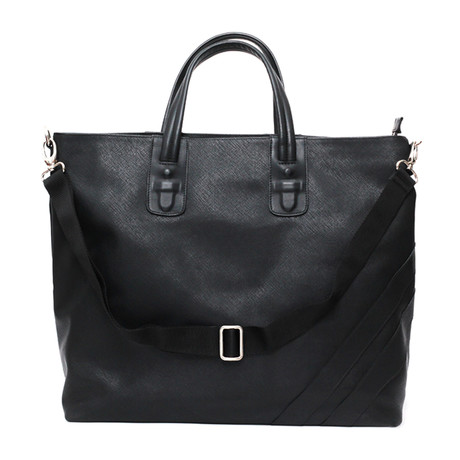Terrance Zippered Tote // Black