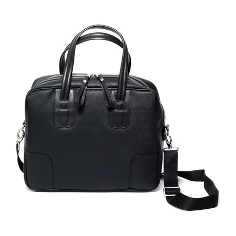 Garrison Messenger Briefcase // Black
