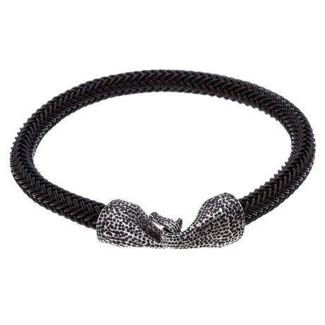 Textured Cord Hook Bracelet