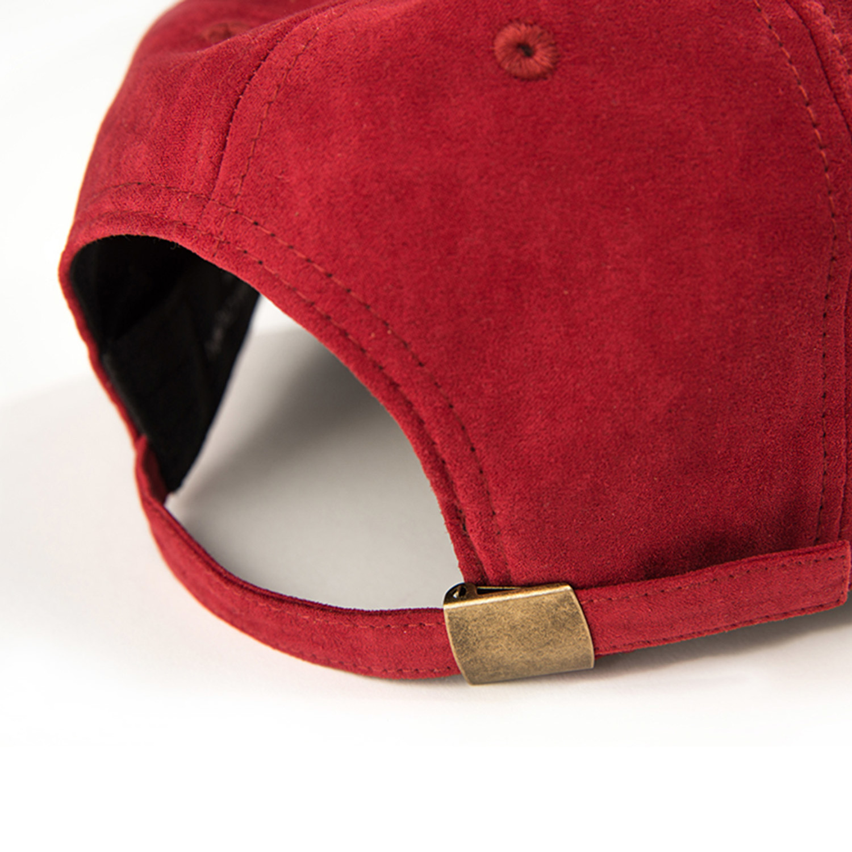 suede wave baseball hat maroon california crown
