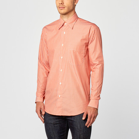 Simone Dress Shirt // Orange