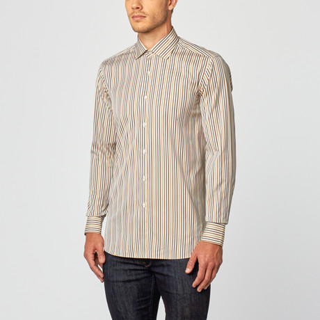 Lacopo Dress Shirt // Brown