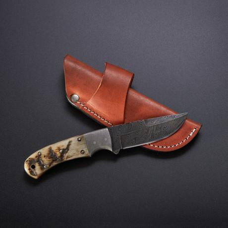 Fixed Blade Knife // 7.5 // Ram's Horn