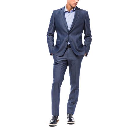 Alphons Slim Fit Suit // Cornflower