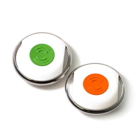 B2-10-A1-WHI-GRN-SIL-1 - New Buddy Smart Button // White (Green Button) (White Button)