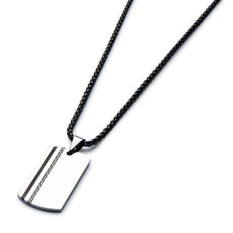 Two-Tone Carbon Fiber Necklace // Black Cable Chain