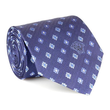 Nikolai Floral Tie // Blue