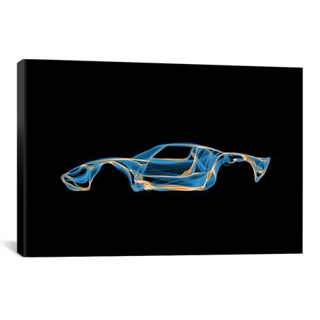 """Ford GT40 // Octavian Mielu (18""""W x 12""""H x 0.75""""D)"""