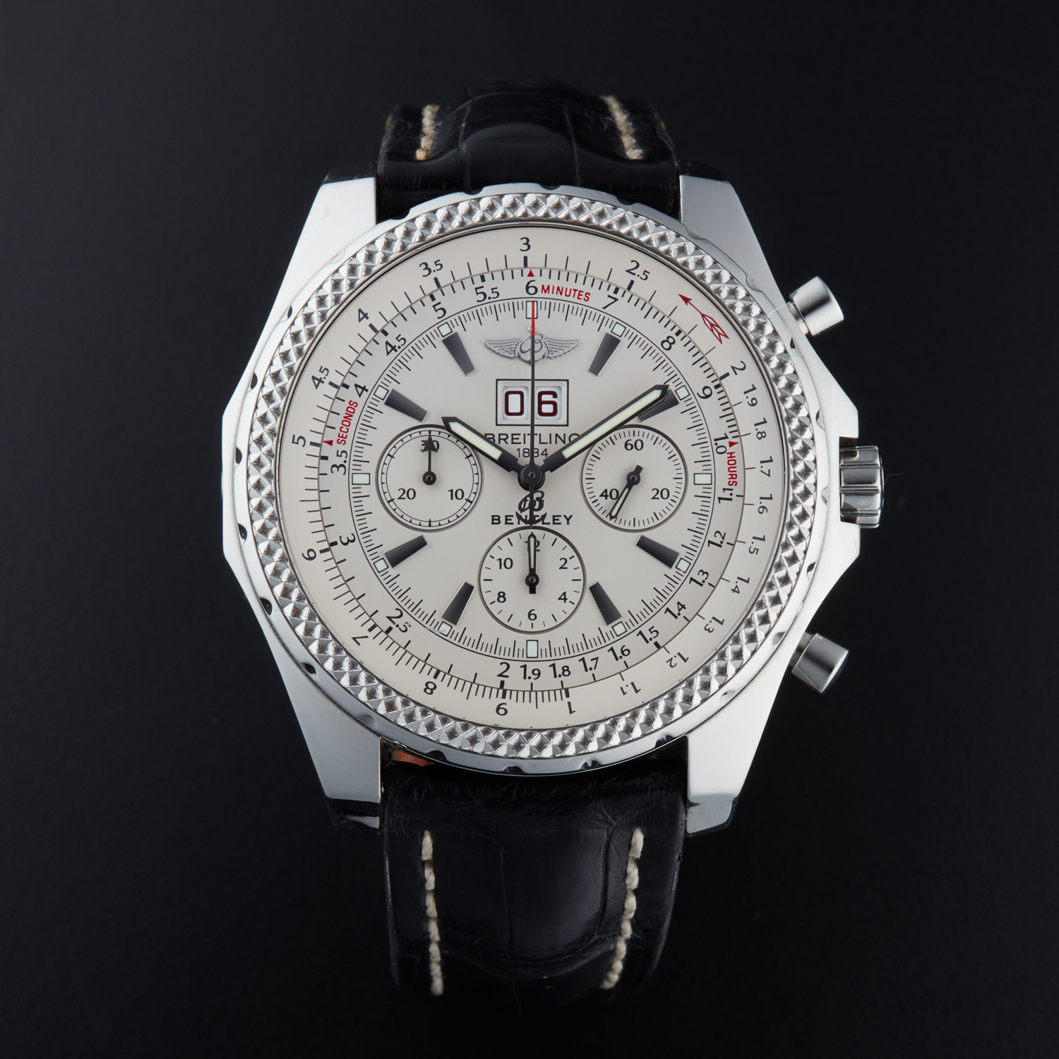 Breitling Bentley 6 75 Chronograph Automatic A44362 Pre Owned Outstanding Timepieces Touch Of Modern