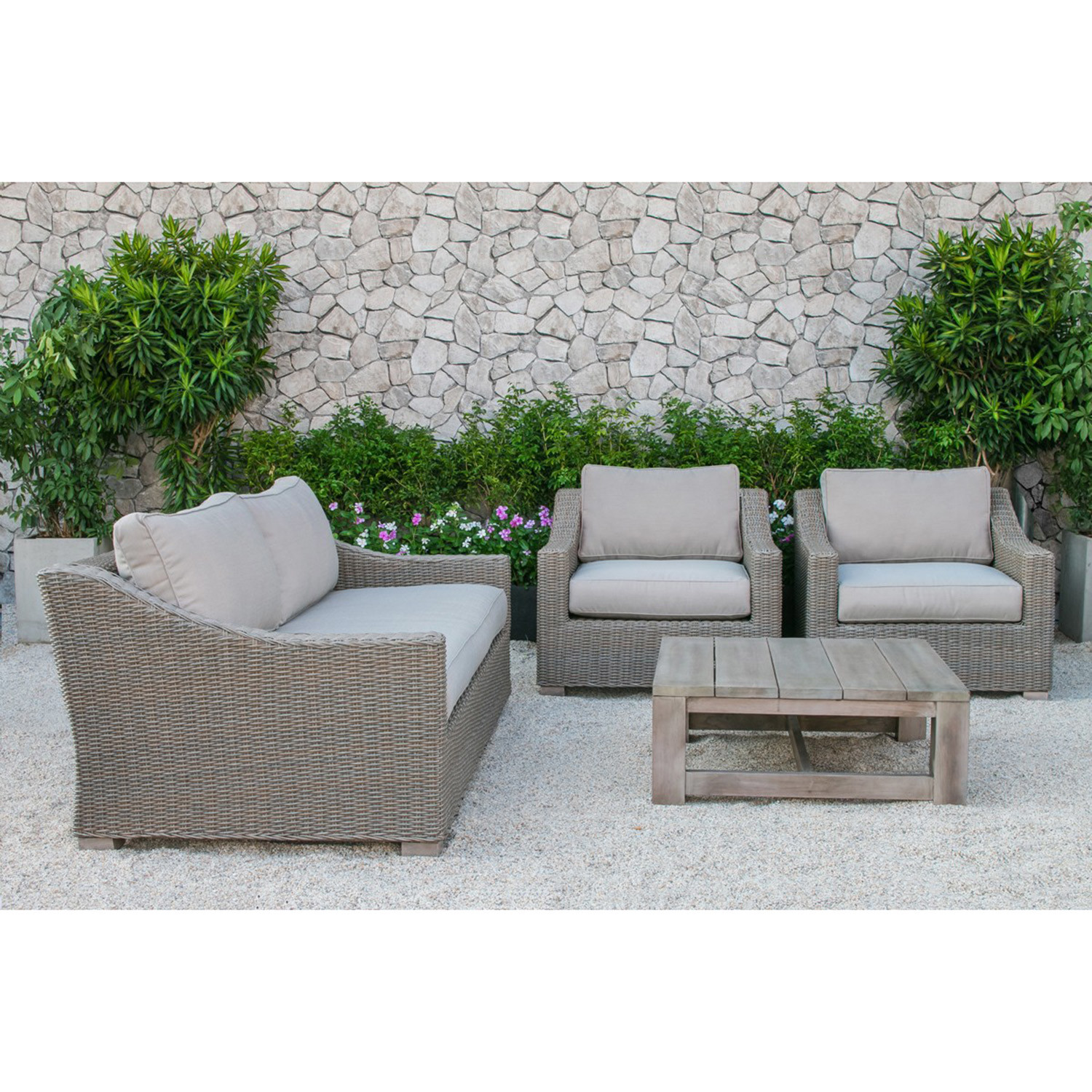Renava Palisades Outdoor Wicker Sofa Set VIG Touch of Modern