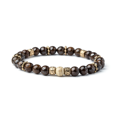 Wisdom + Intuition Beaded Bracelet // Brown