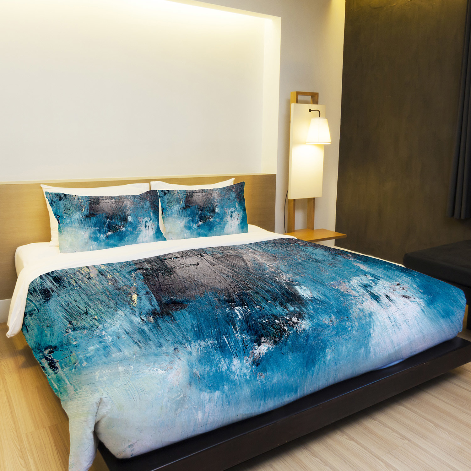 Ocean Oil Painting Duvet Cover Blue Twin One Bella