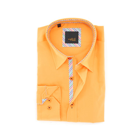 Solid Button-Up // Orange