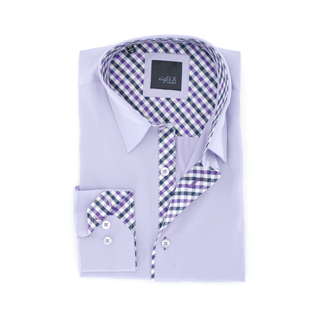 Slim Fit Button-Up Shirt // Lilac (S)