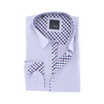 Slim Fit Button-Up Shirt // Lilac (L)