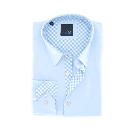 Slim Fit Button-Up Shirt // Sky Blue (S)
