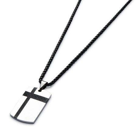 Black Carbon Fiber Necklace // Black Cable Chain