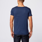 AFF Clothing // Corso Knotch Neck Tee // Blue Night (XL)