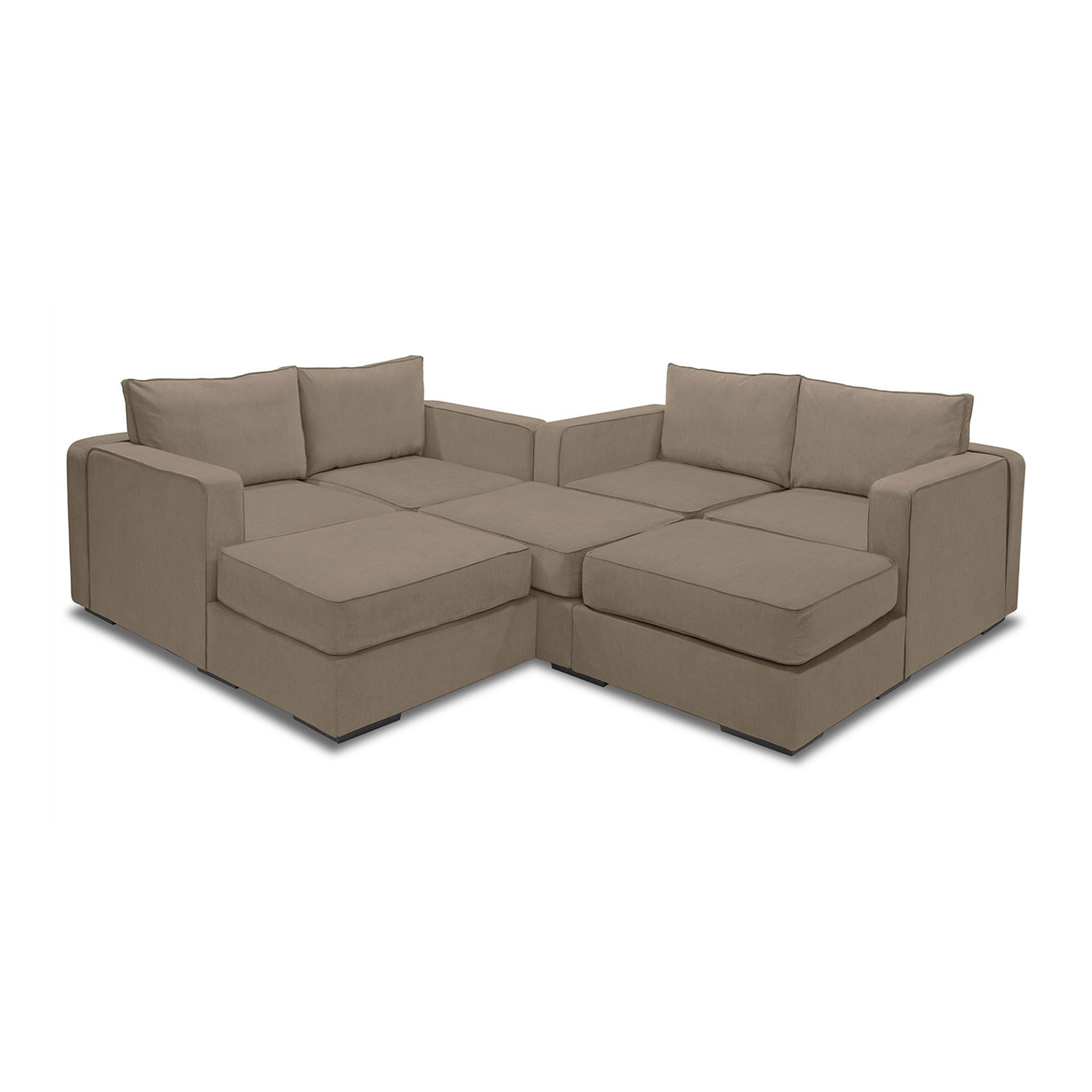 5 Series Sactionals M Lounger Tan LoveSac Touch of Modern