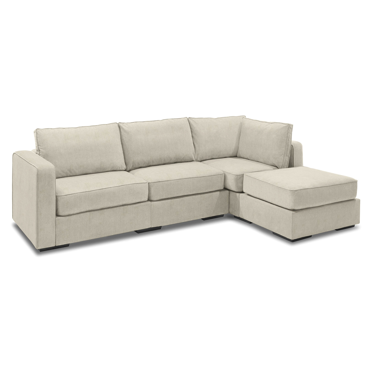 5 series sactionals chaise sectional taupe lovesac. Black Bedroom Furniture Sets. Home Design Ideas