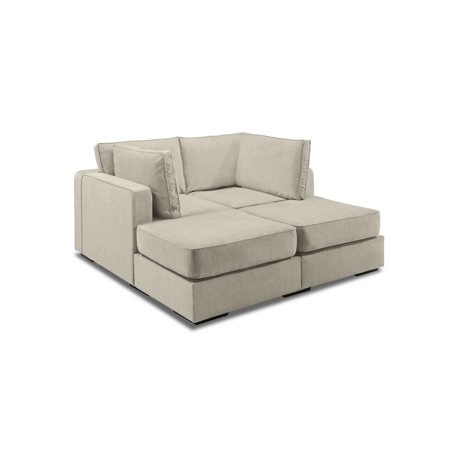 5 Series Sactionals Movie Lounger Taupe LoveSac Touch of