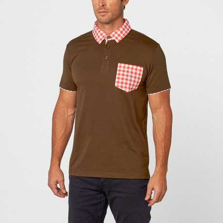 Kirby Gingham Polo // Dark Charcoal (S)