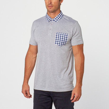 Kirby Gingham Polo // Grey (S)
