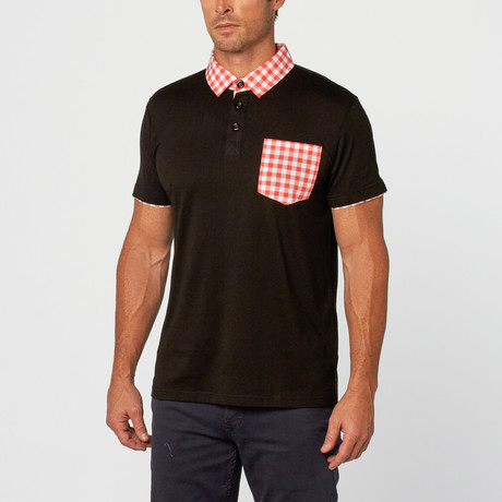 Kirby Gingham Polo // Black (S)