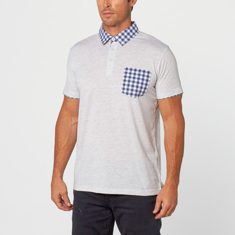 Kirby Gingham Polo // Light Grey (S)