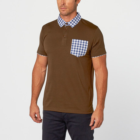 Kirby Gingham Polo // Charcoal (S)