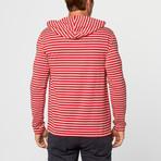 Jacob Stripe Hoodie // Red + White (XL)